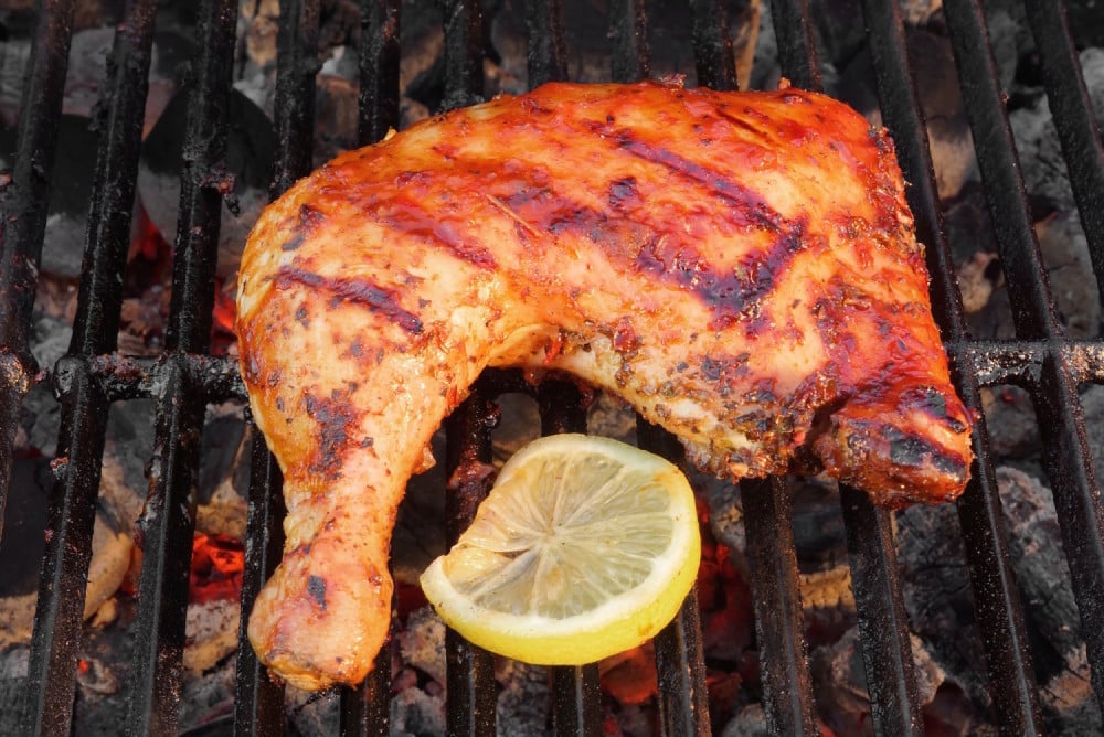 Grilled Chicken With Horseradish BBQ Sauce