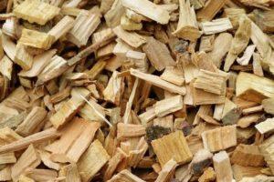 peach wood chips